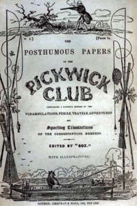 Original cover of the serial, 'Pickwick Club' issued in 1836.