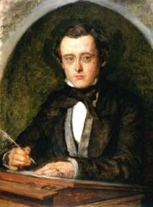 Wilkie Collins, portrait from 1853, two years after he met Dickens.