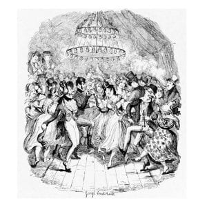 George Cruickshank's illustration of Greenwich Fair, which he produced for Sketches by Boz.