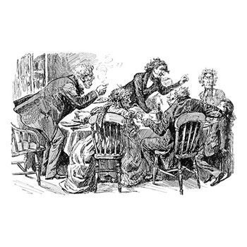Pip Does Not Enjoy His Christmas Dinner by Harry Furniss.