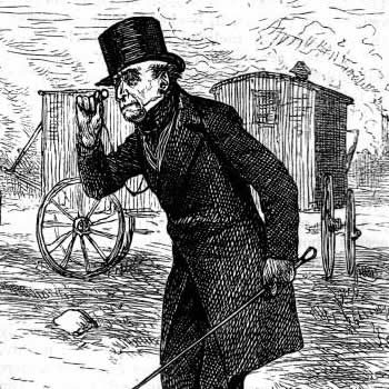 Illustration from a 1876 American edition of Hard Times showing Thomas Gradgrind