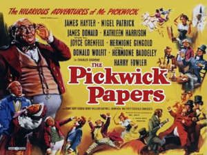 Poster from a 1952 film adaptation of The Pickwick Papers.